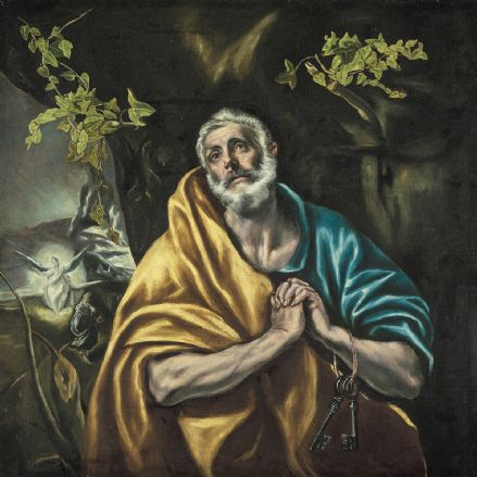 El Greco (Domenico Theotocopuli): St Peter in Penitence/The Tears of St Peter. (002036)